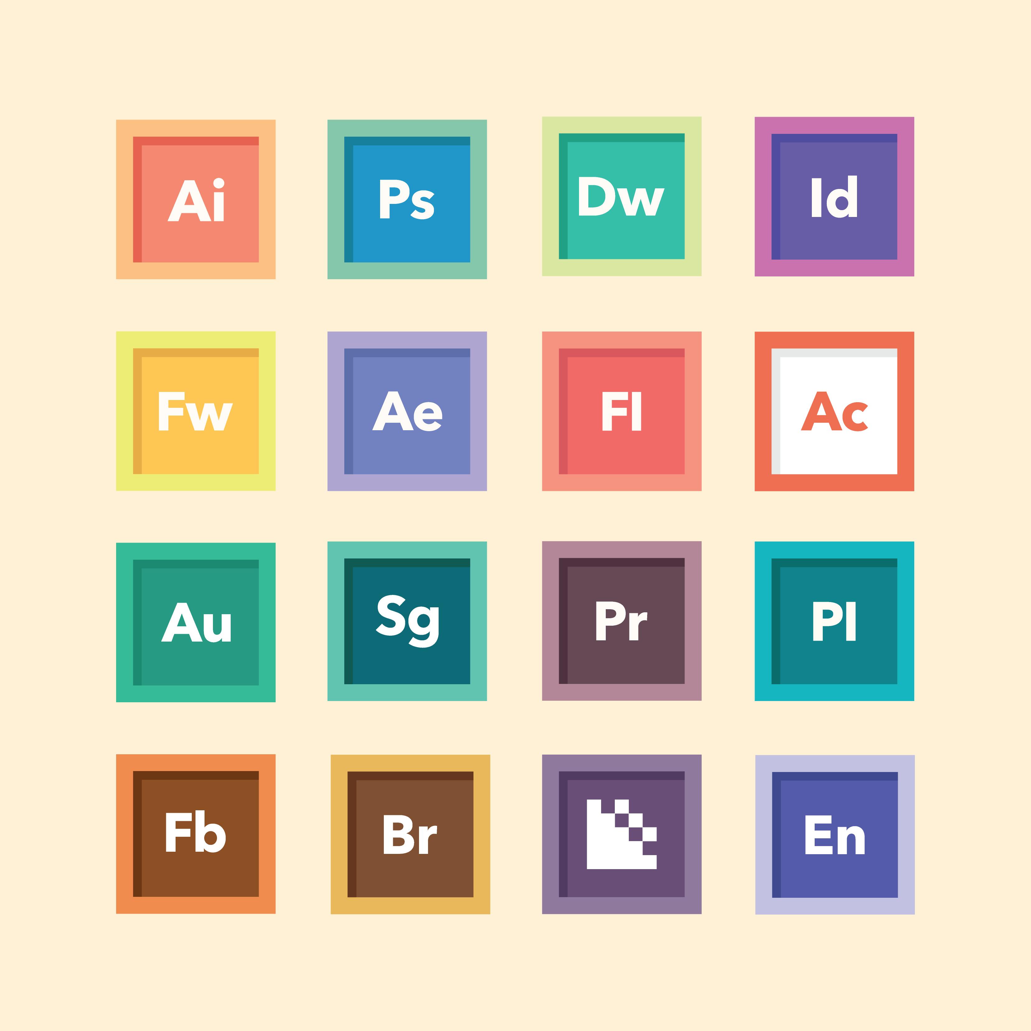 Adobe製品のアイコン