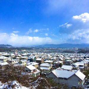 廿日市より広島市方面を望む