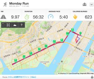 第34回ひろしま国際平和マラソンコースマップ
