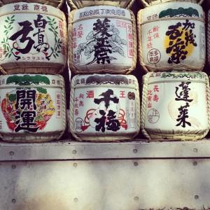 明治神宮の酒樽