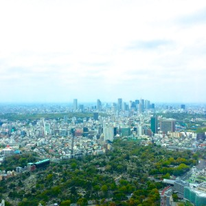六本木森タワーから新宿方面を望む